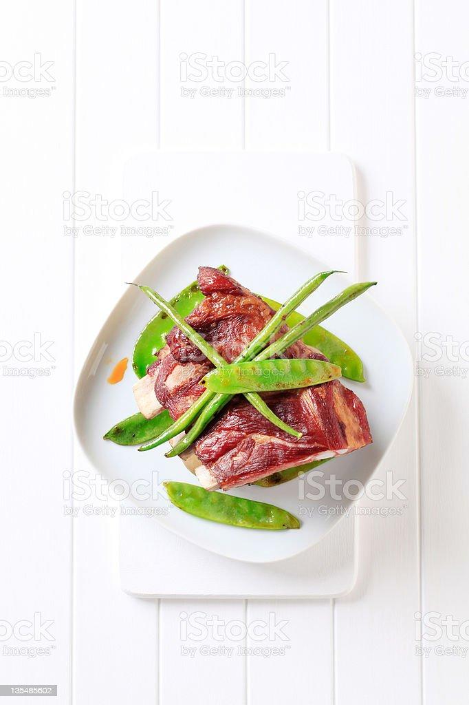 Smoked pork ribs royalty-free stock photo
