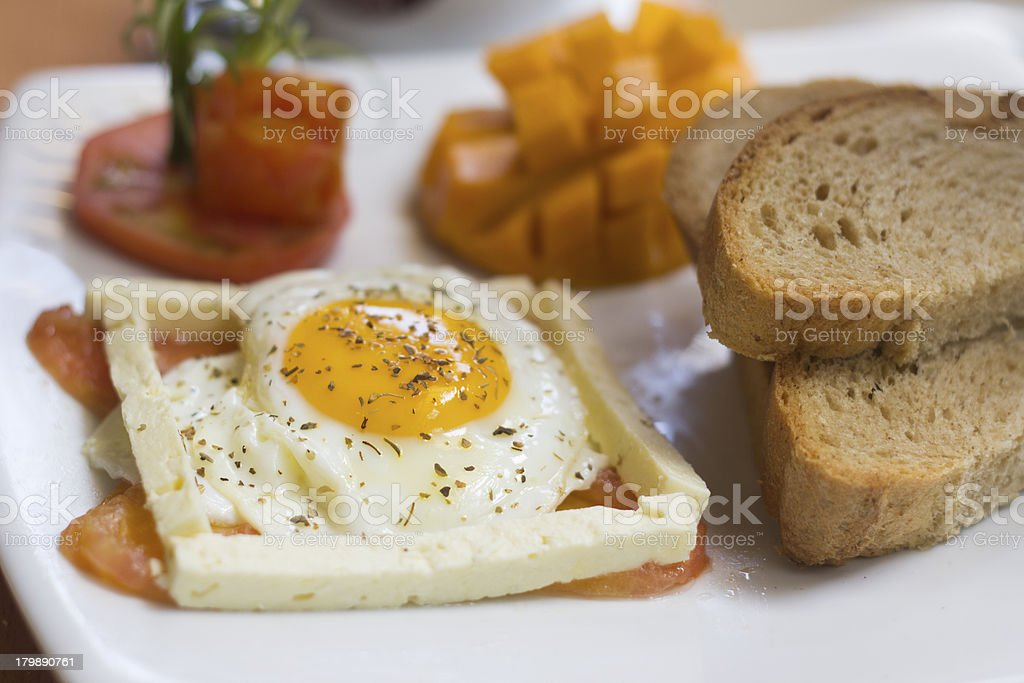 Smoked Salmon and eggs breakfast royalty-free stock photo