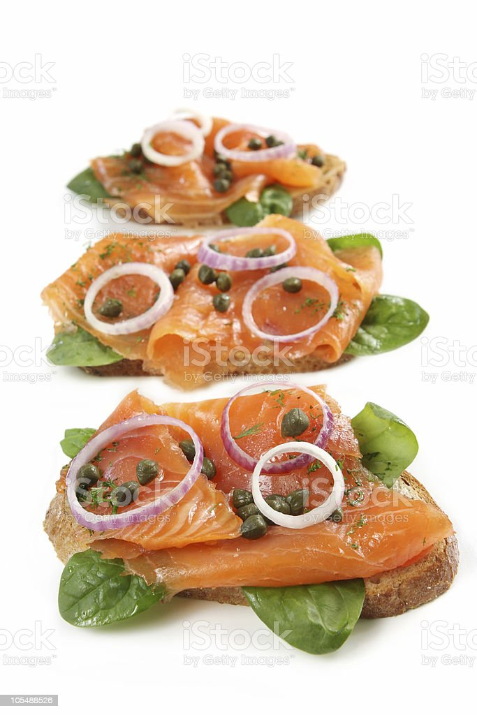 Smoked Salmon Appetizer royalty-free stock photo