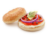 Smoked Salmon Bagel (with path)