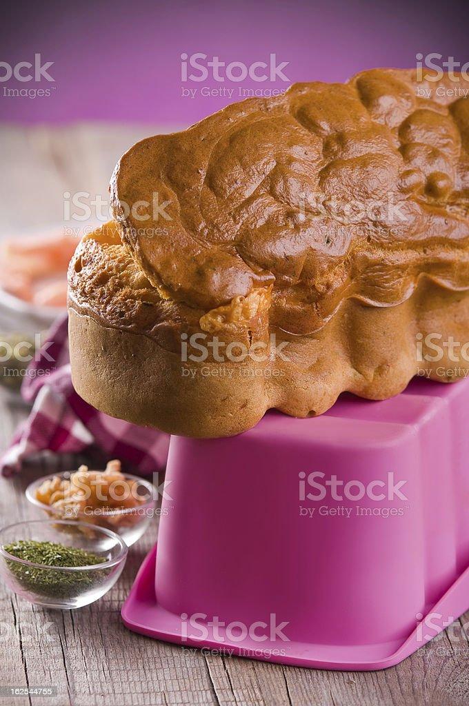 Smoked Salmon Cake. royalty-free stock photo