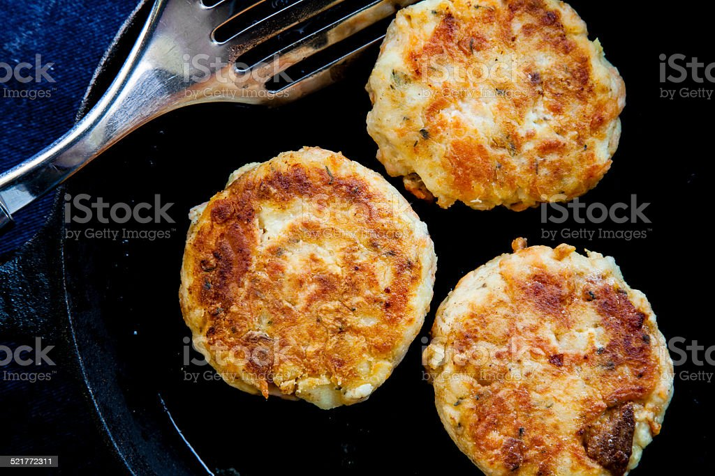 Smoked Salmon Fishcakes stock photo