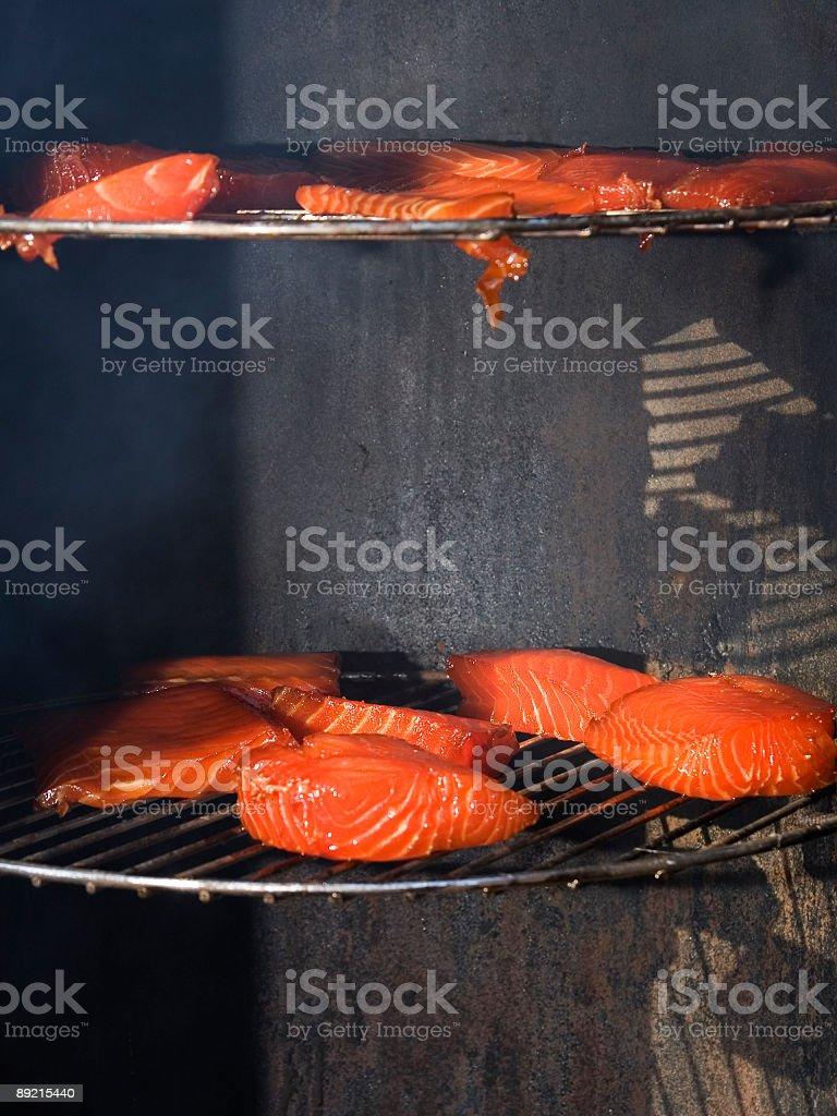 smoked salmon mmmmmmm royalty-free stock photo