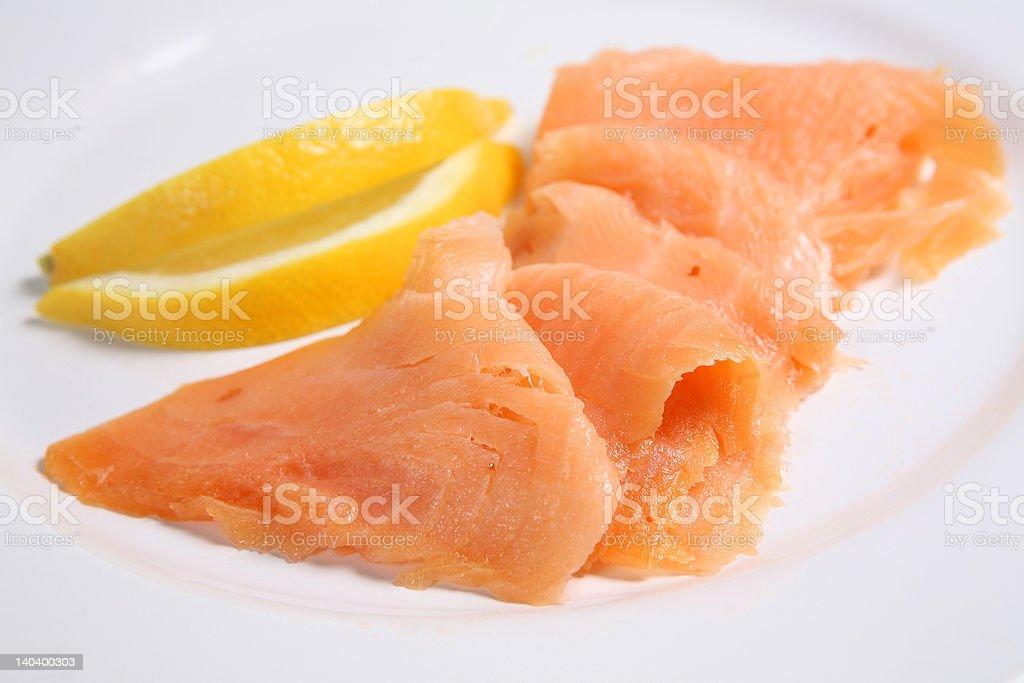 Smoked Salmon royalty-free stock photo