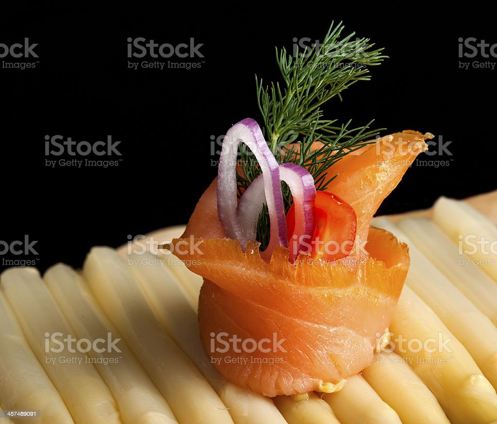 Smoked Salmon Roll royalty-free stock photo