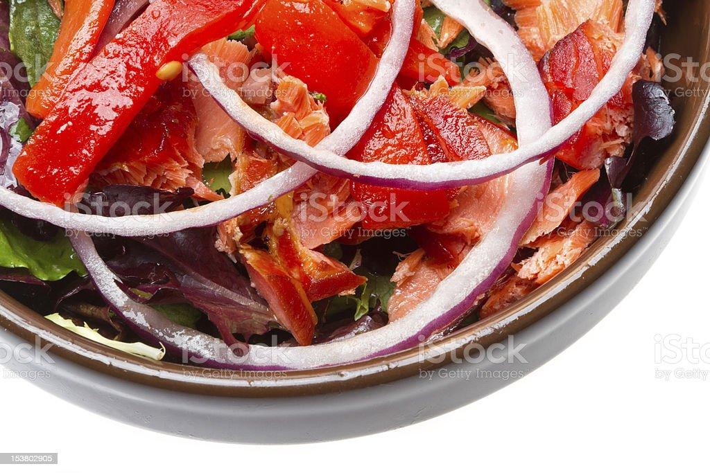 Smoked Salmon Salad royalty-free stock photo
