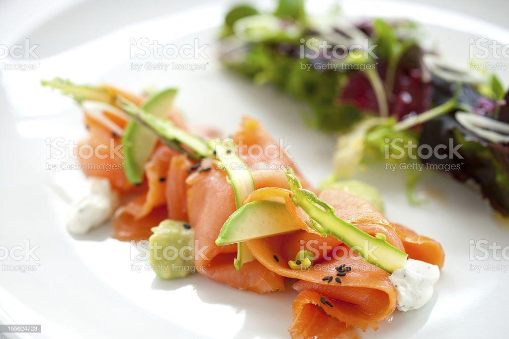 Salade de saumon fumé photo libre de droits