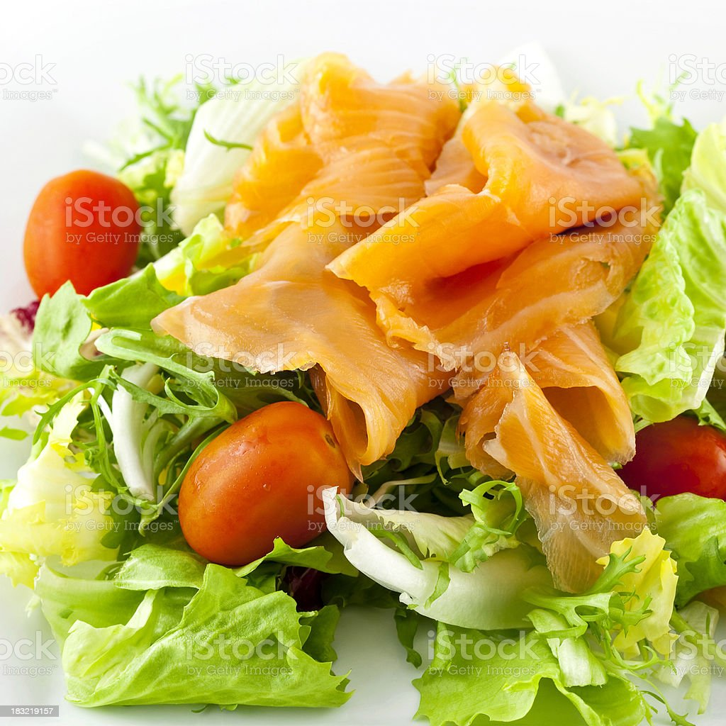 Smoked Salmon Salad royalty-free stock photo