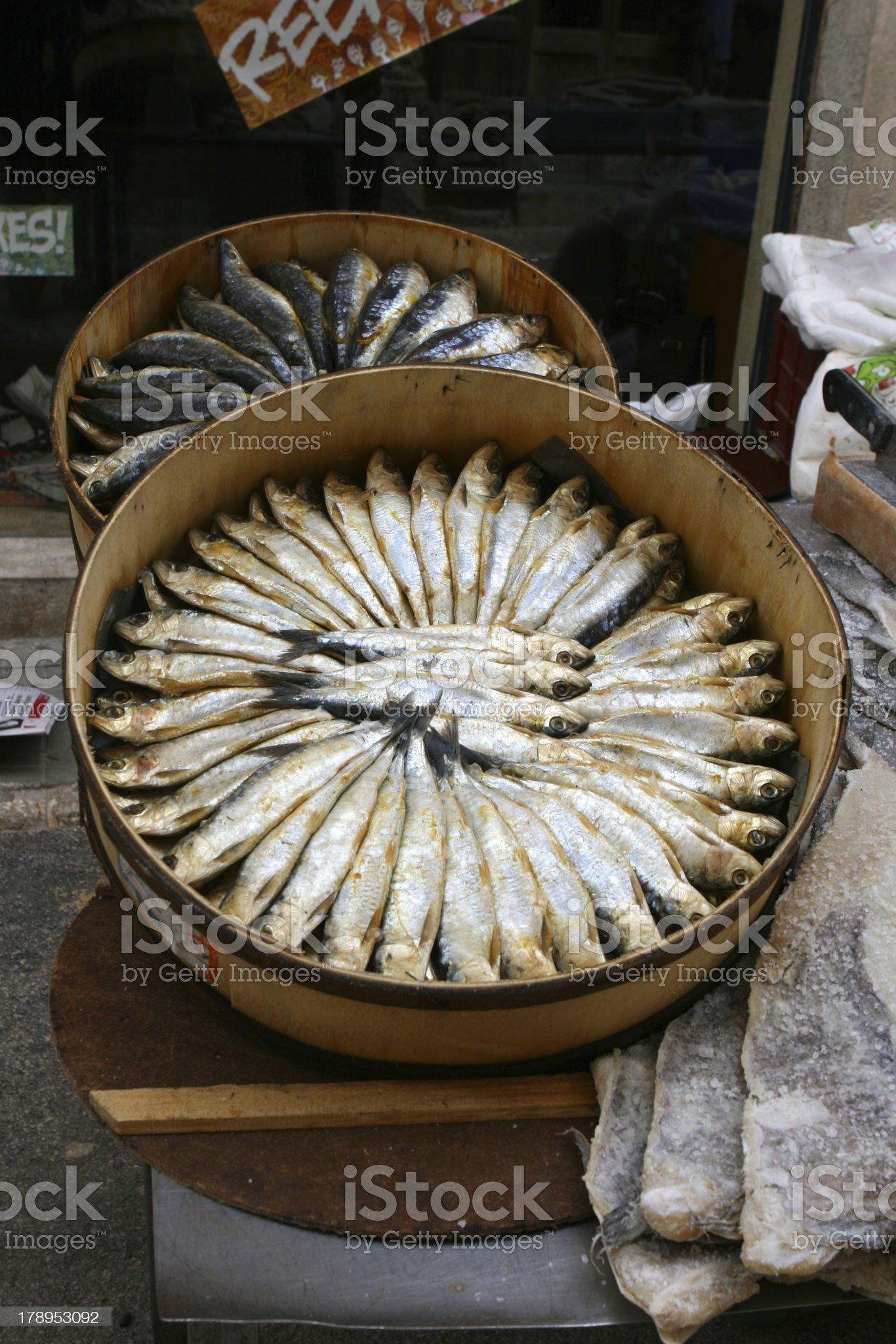 Smoked sardines royalty-free stock photo