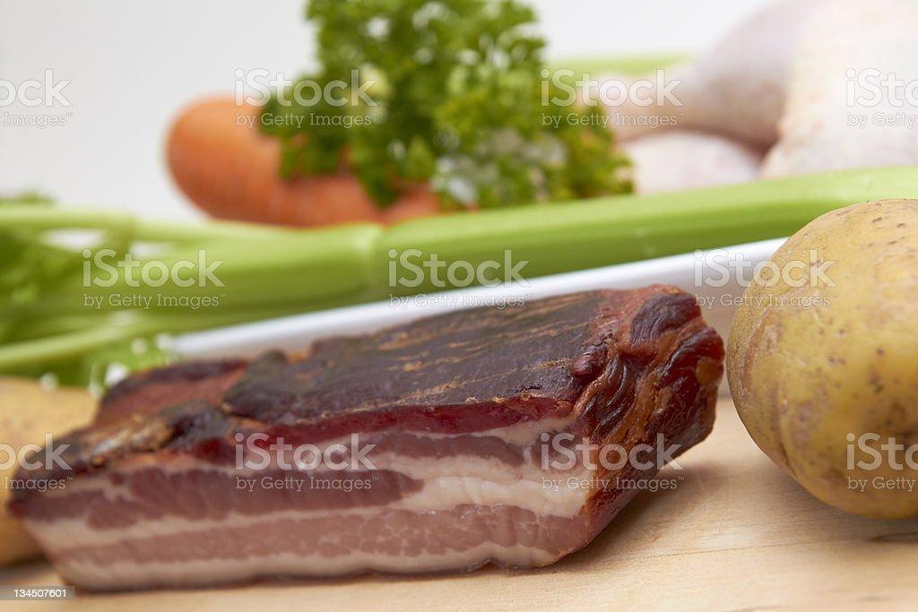 Smoked streaky bacon stock photo