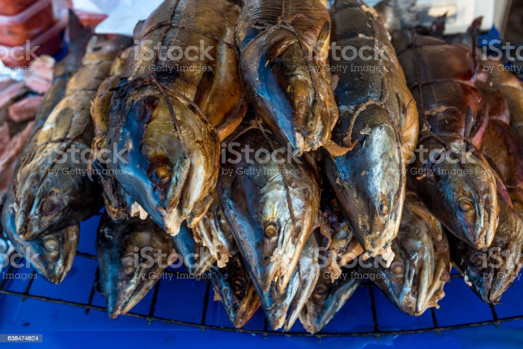 Smoked tasty trout stock photo