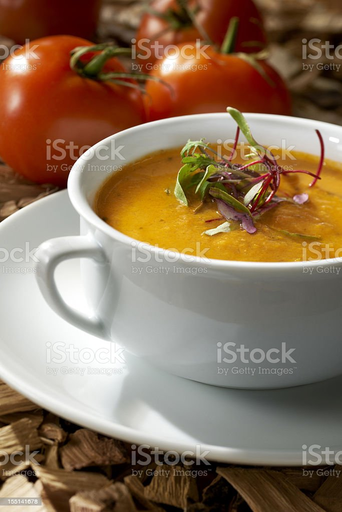 Smoked Tomato Bisque Soup stock photo