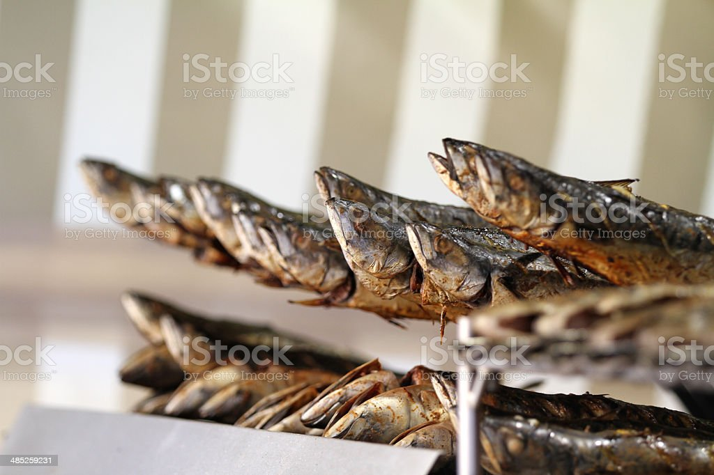 Smoked trout royalty-free stock photo