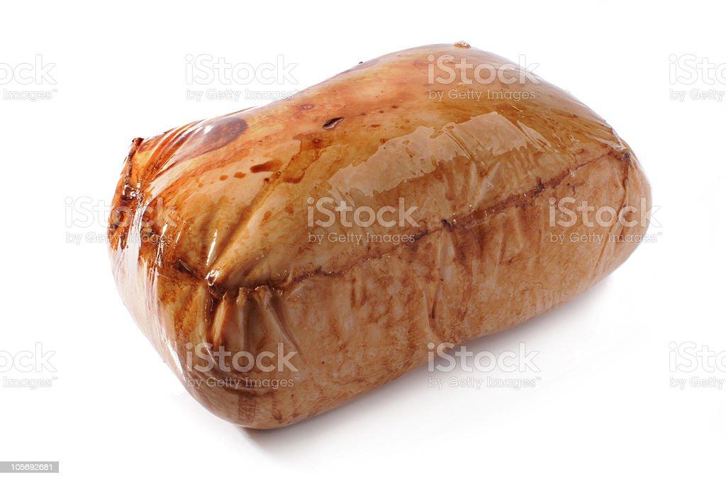 Smoked Turkey breast stock photo