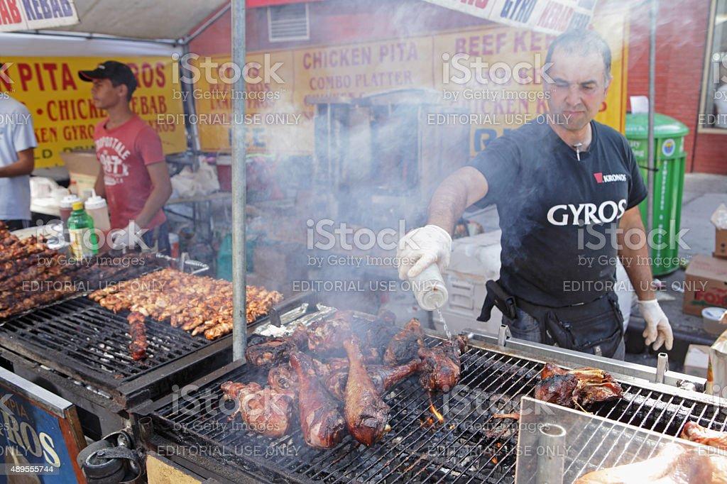 Smoked turkey leg barbecue at the Atlantic Antic Street Fair stock photo