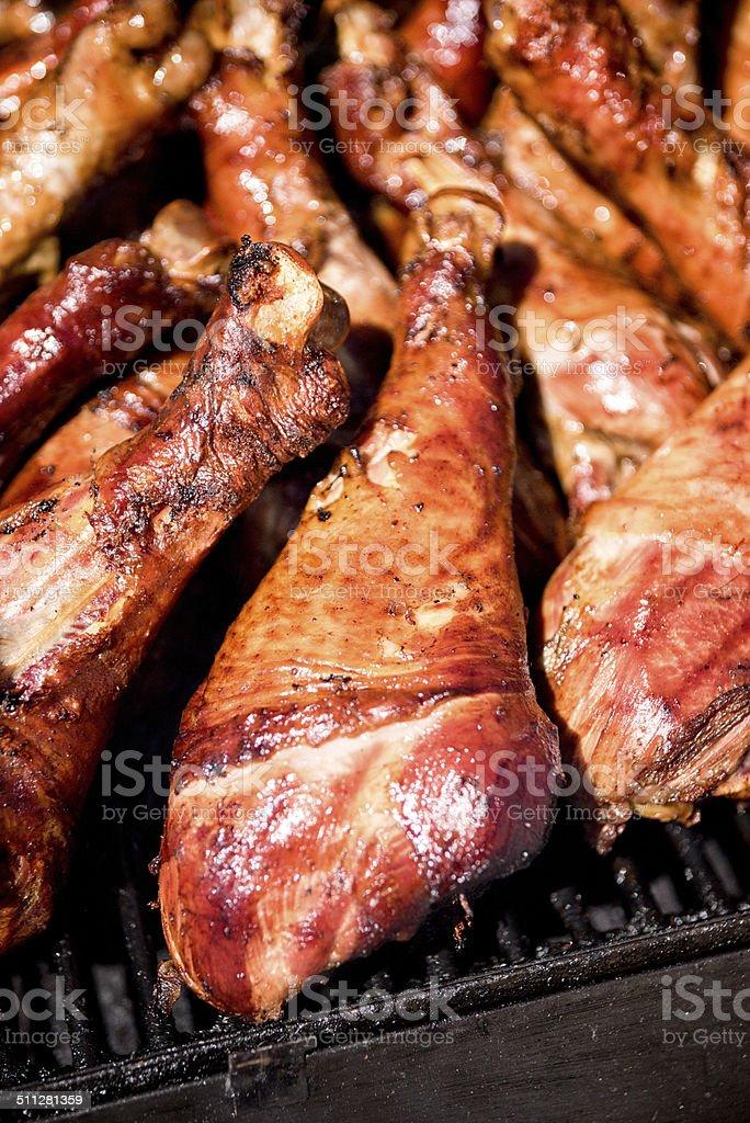 Smoked Turkey Legs stock photo