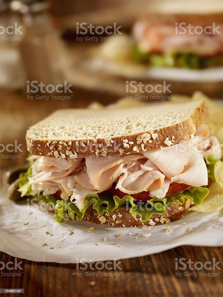Smoked Turkey Sandwich stock photo