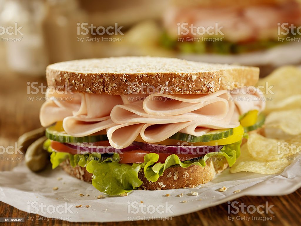 Smoked Turkey Sandwich stock photo