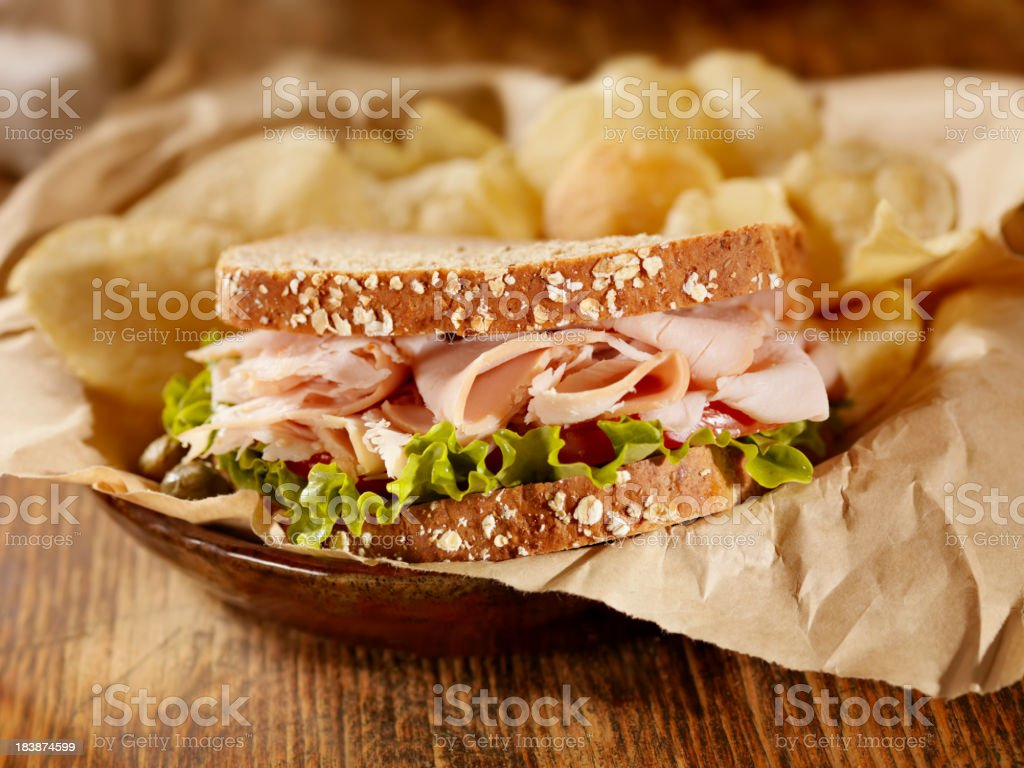 Smoked Turkey Sandwich royalty-free stock photo