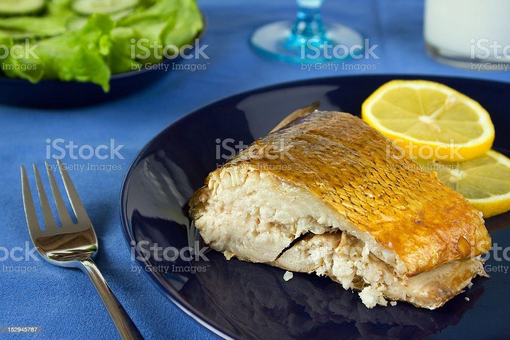 Smoked whitefish royalty-free stock photo