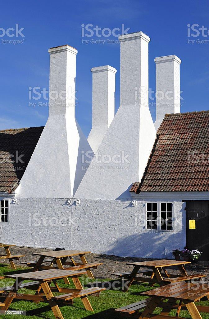 Smokehouse on Bornholm island royalty-free stock photo