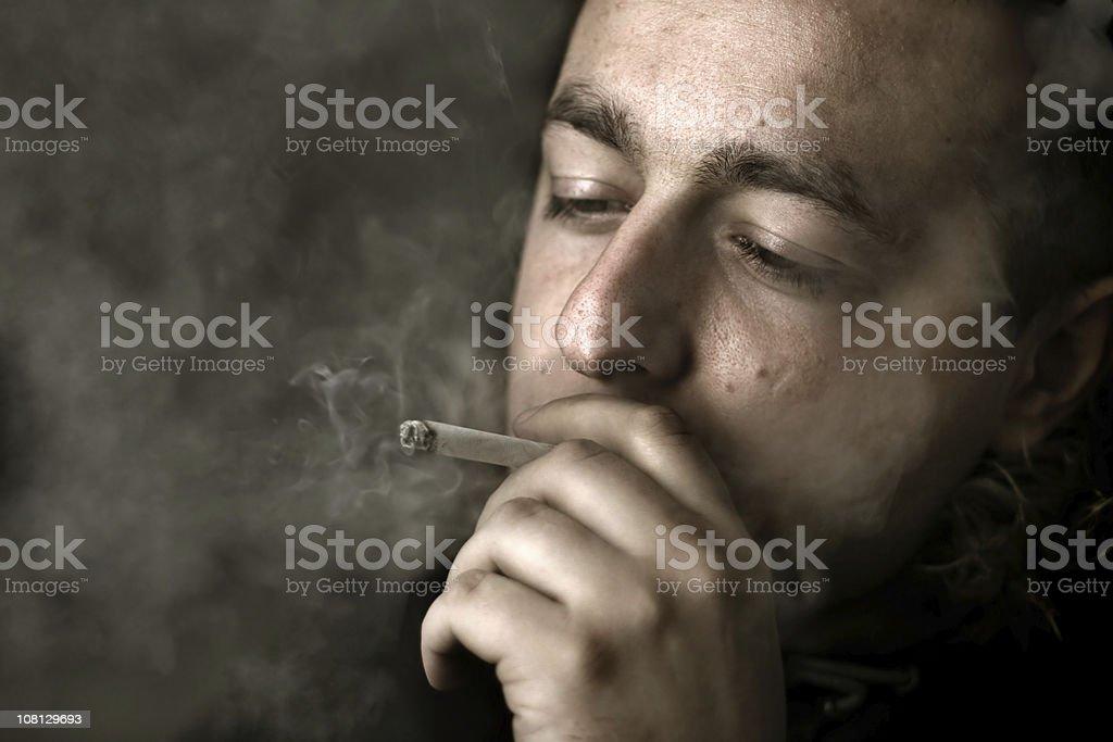 Smoker [3] royalty-free stock photo