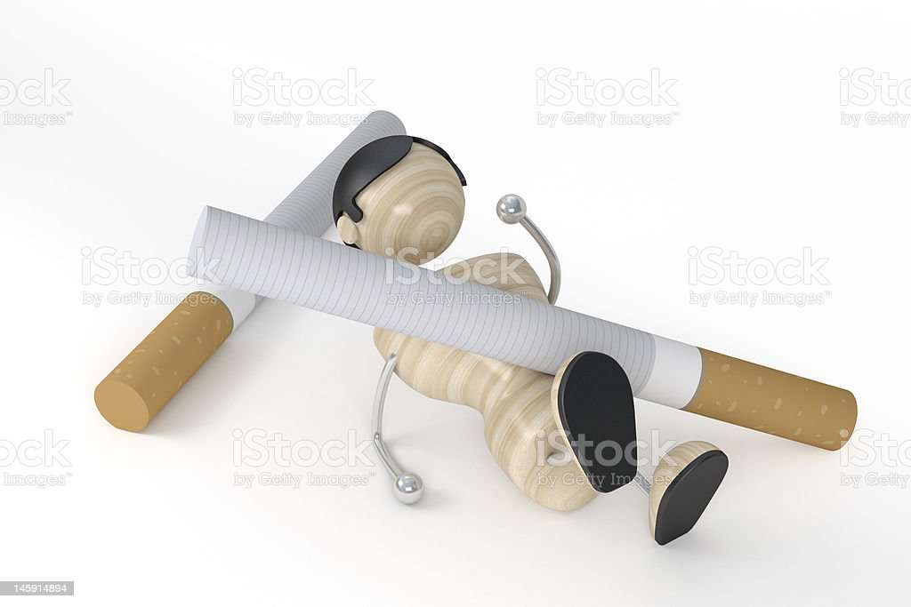 Smoker and cigarettes royalty-free stock photo