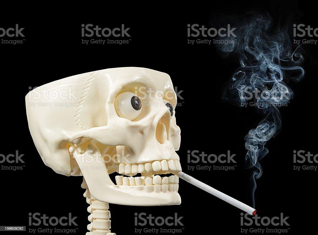 smoker human skull royalty-free stock photo