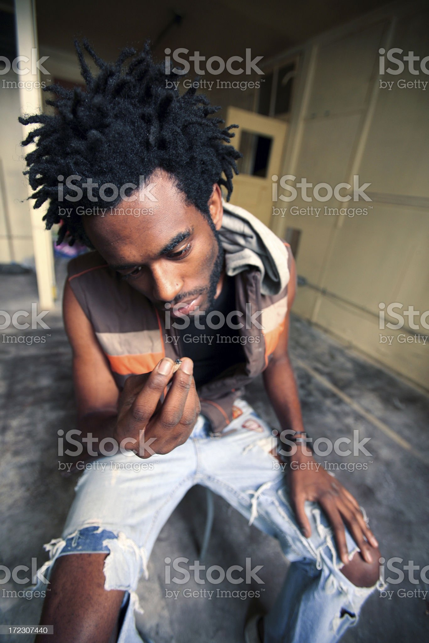 smoker royalty-free stock photo