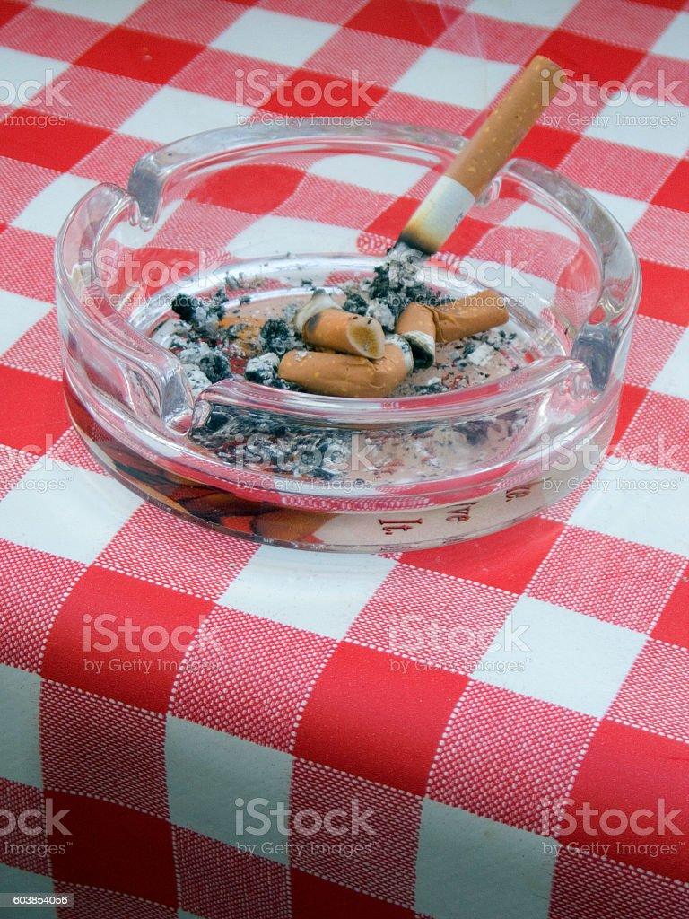 Smokers ashtray stock photo