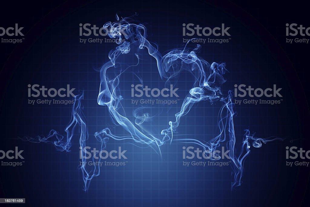 Smoker's heartbeat. royalty-free stock photo