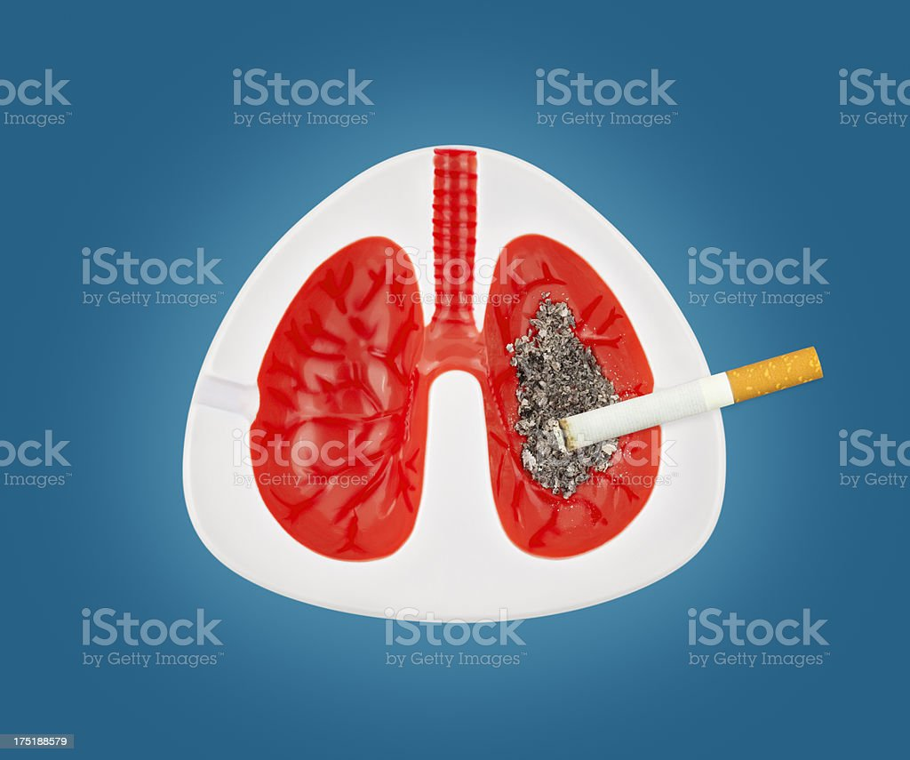 Smokers Lungs (Concept) stock photo