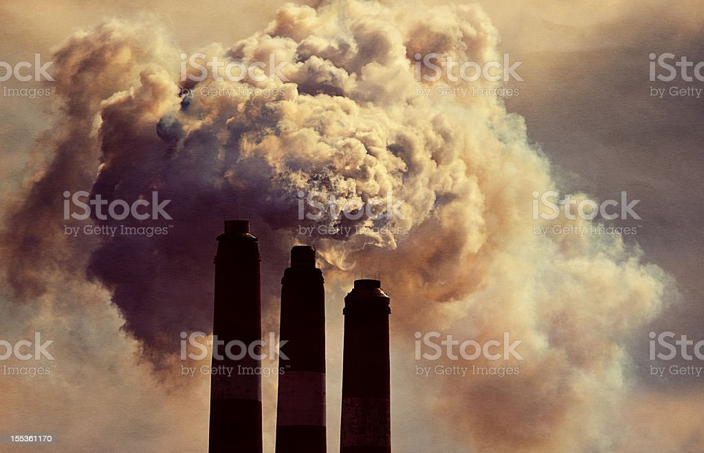Smokestack stock photo