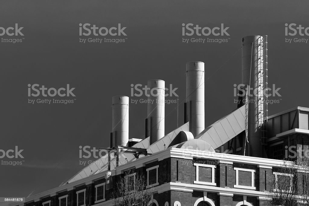 Smokestacks stock photo
