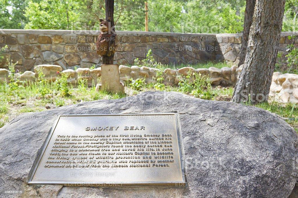 Smokey Bear's Grave royalty-free stock photo