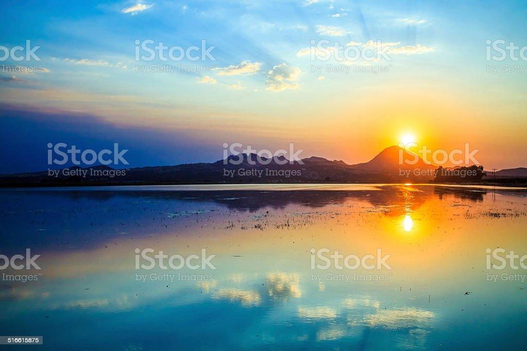 Smokey Buttes Sunset stock photo
