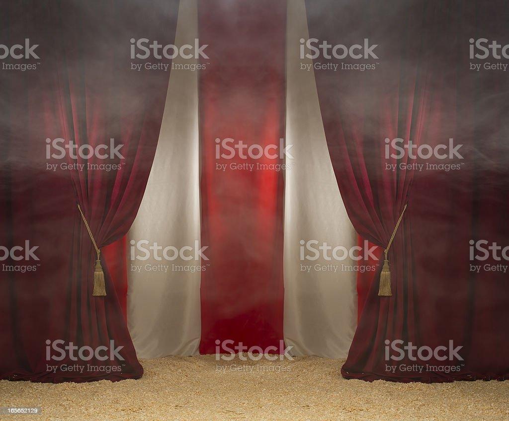smokey circus tent stock photo