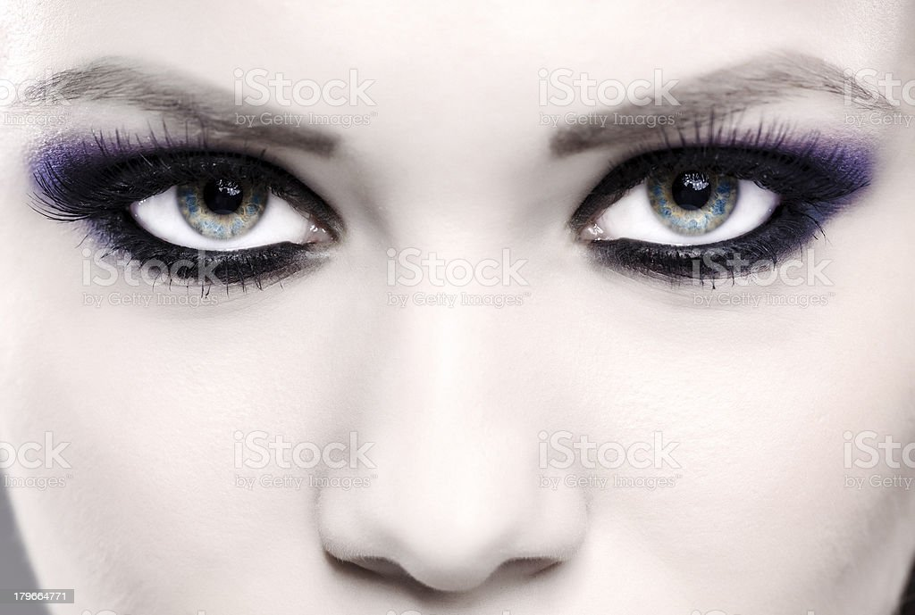 smokey eyes royalty-free stock photo