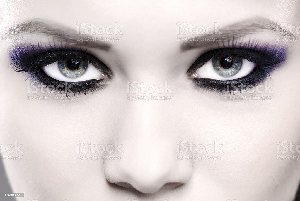smokey eyes stock photo