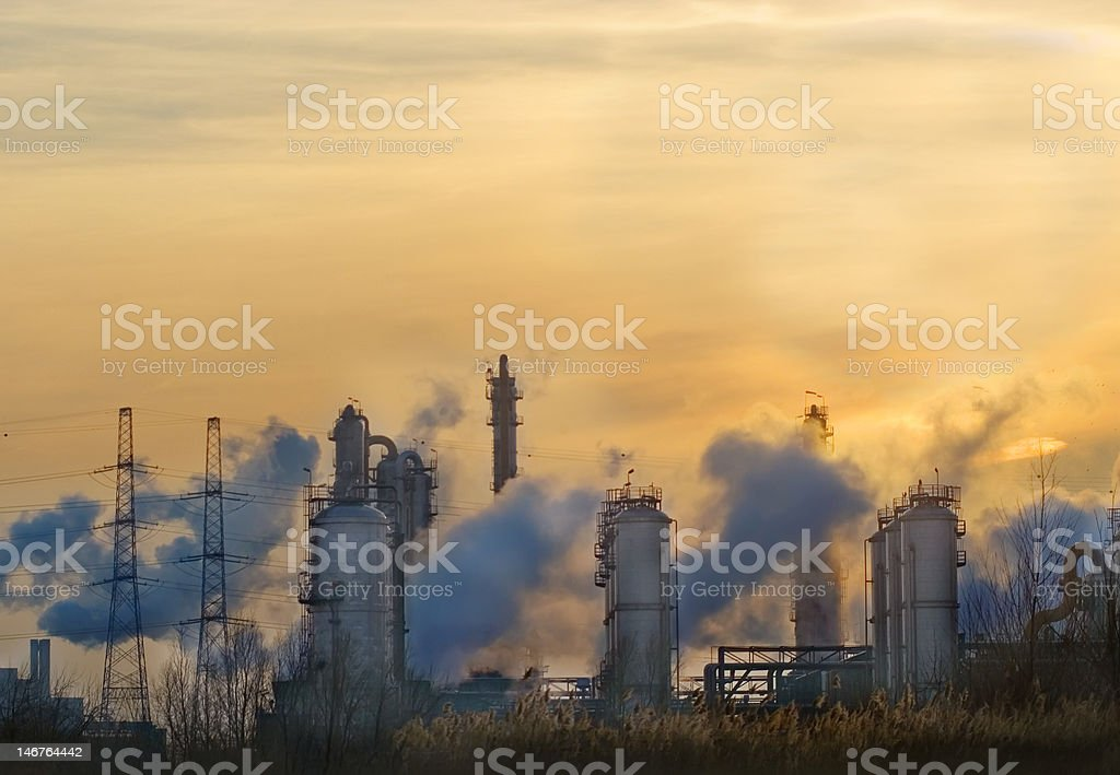 Smokey Industry       (© Lobke Peers) royalty-free stock photo
