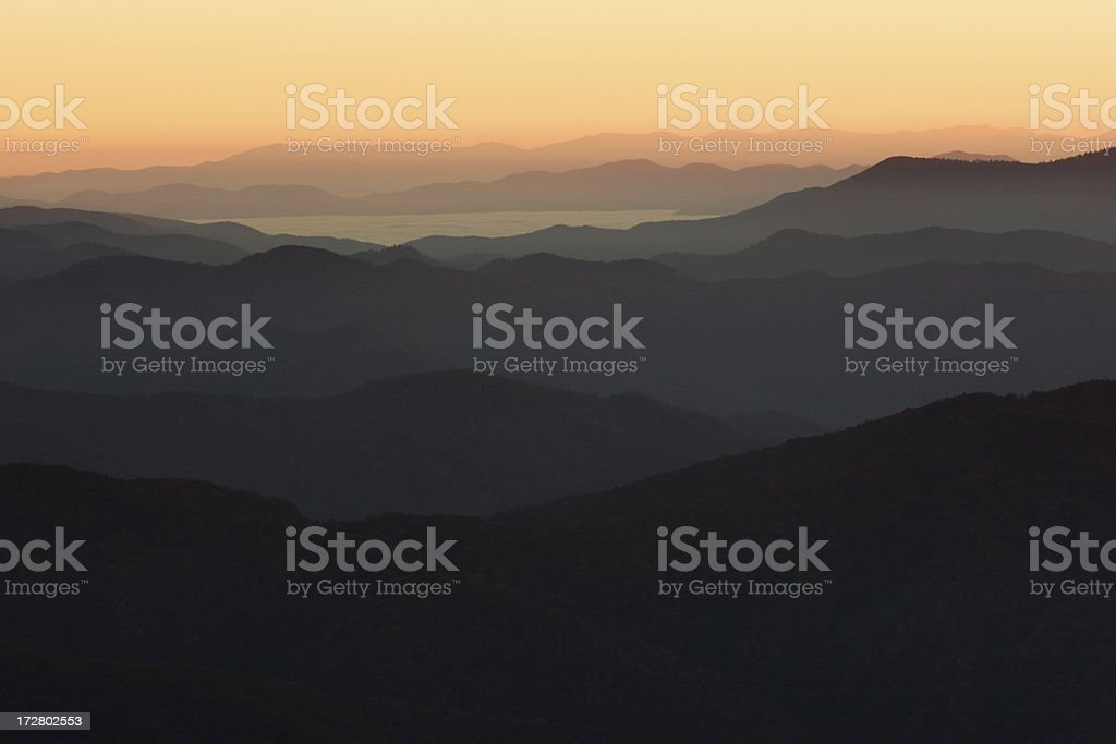 Smokey Mountain Dawn royalty-free stock photo