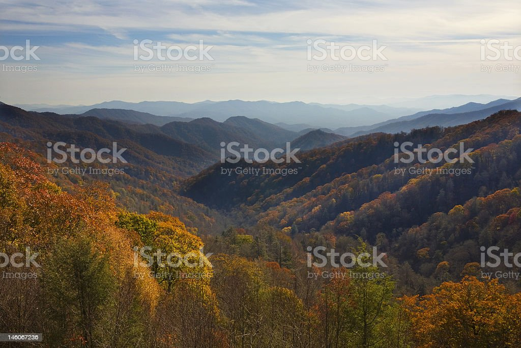 Smokey Mountain National Park in Fall royalty-free stock photo