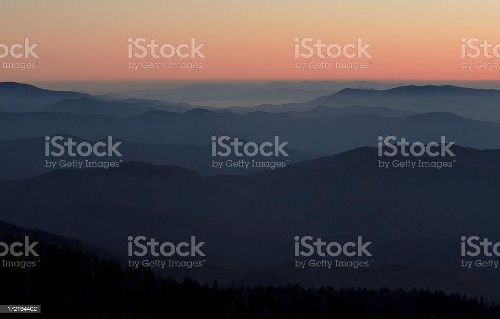 Smokey Mountain Sunrise stock photo