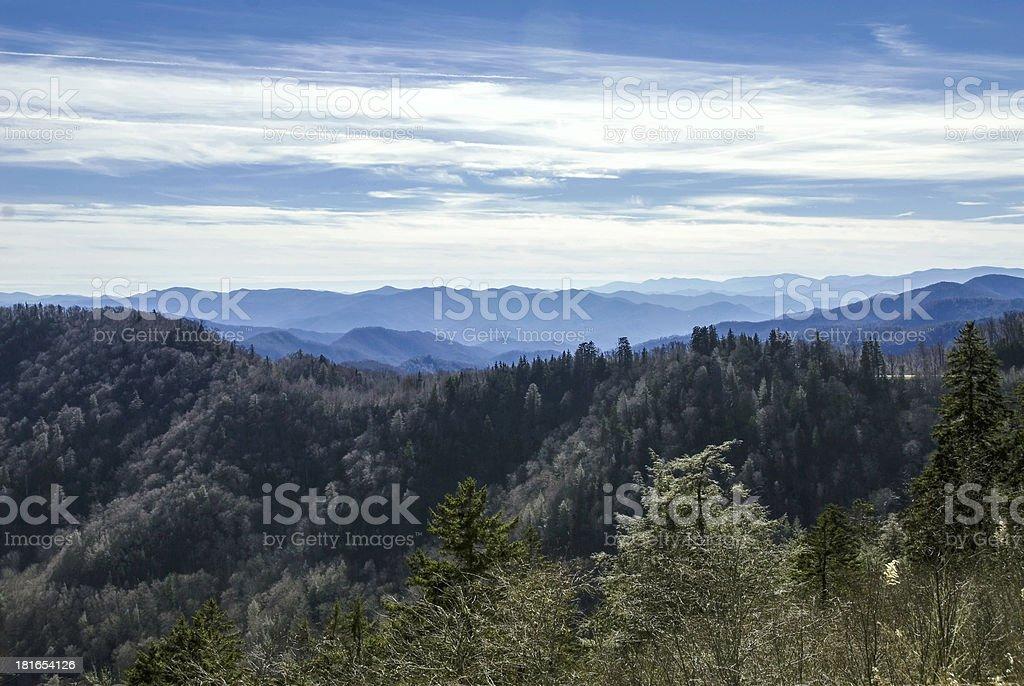 Smokey Mountains at Morton Lookout royalty-free stock photo