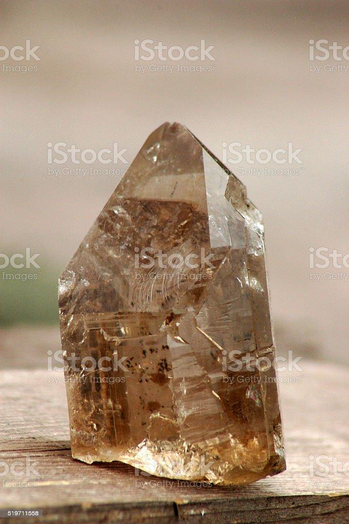 Smokey quartz stone stock photo