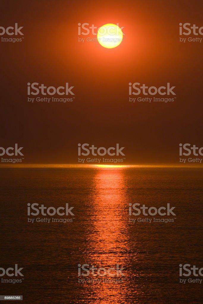 Smokey Redondo coucher du soleil en raison d'incendies photo libre de droits