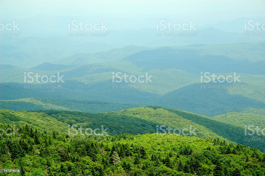 Smokies on a summer afternoon stock photo