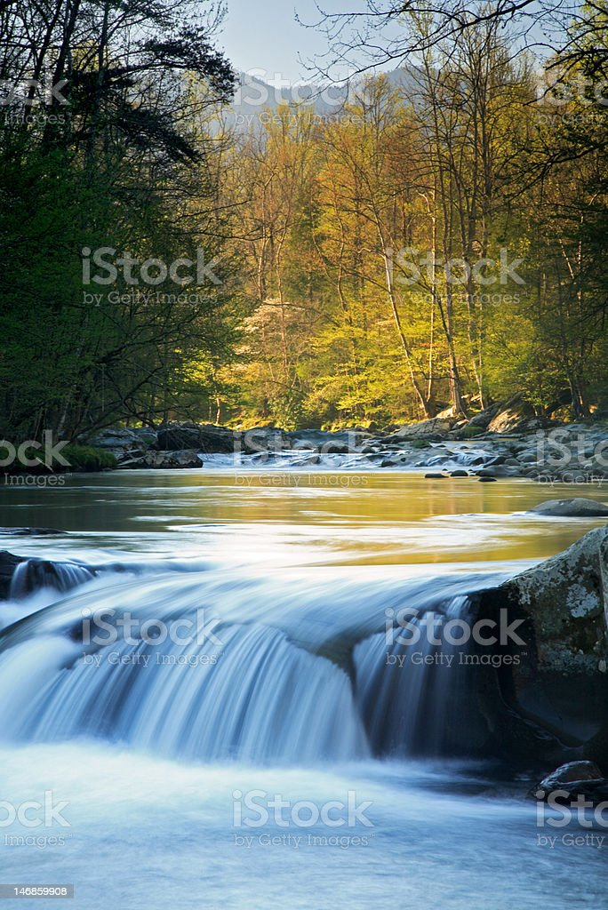 Smokies Waterfall royalty-free stock photo
