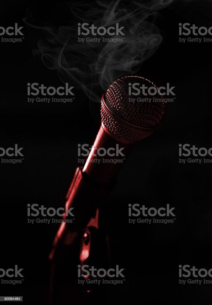 Smokin Hot Mic royalty-free stock photo