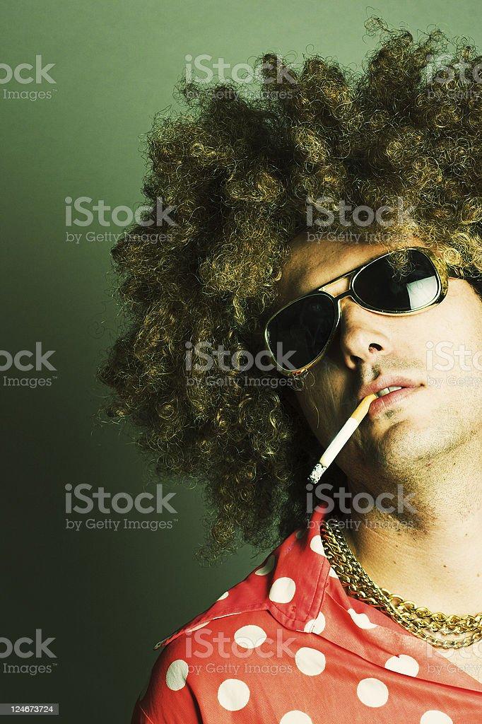 Smokin' Hustler royalty-free stock photo